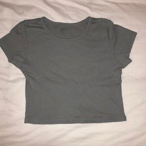 Blue/Gray T-shirt crop